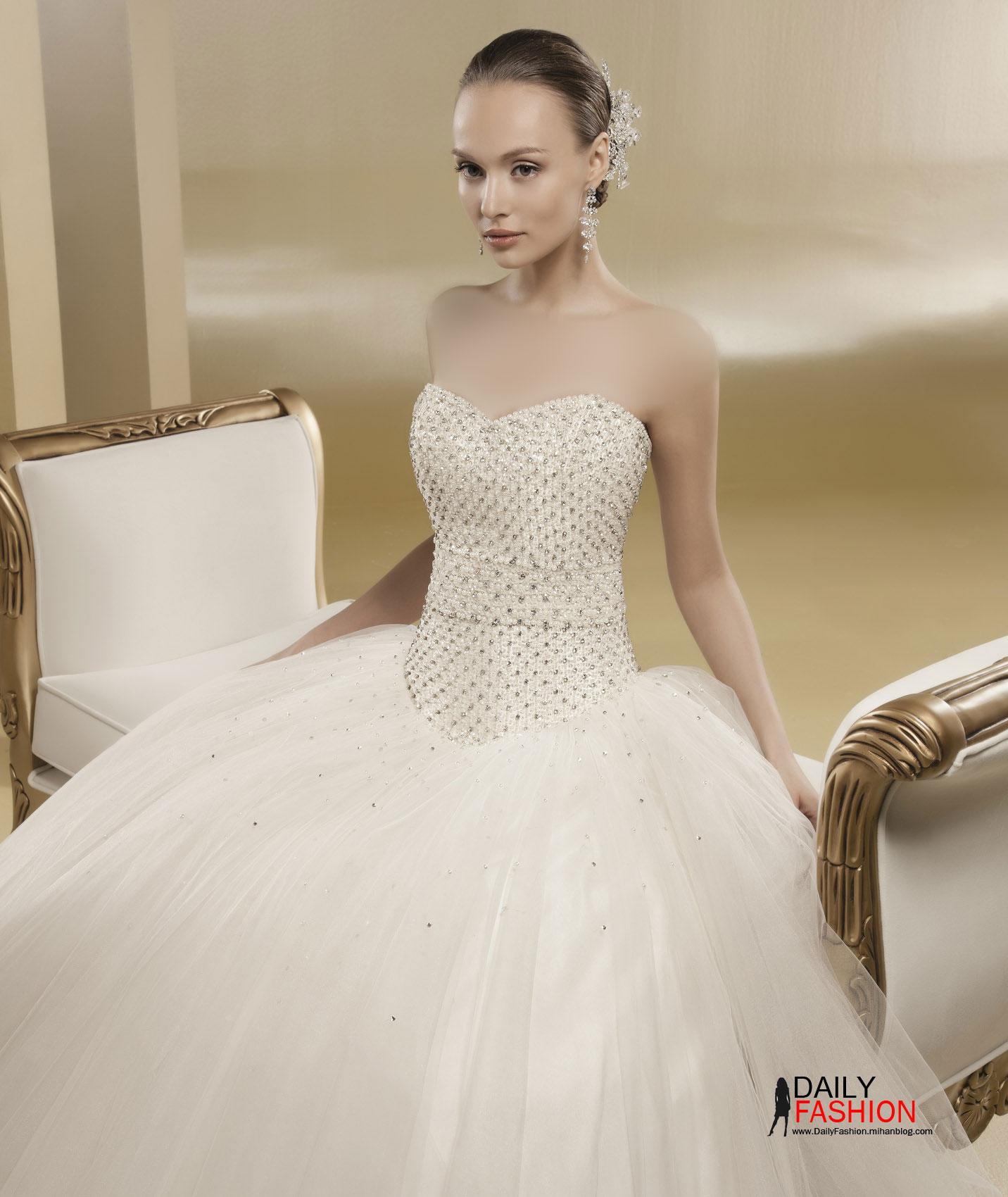 لباس+عروس+طرح+اسکارلت